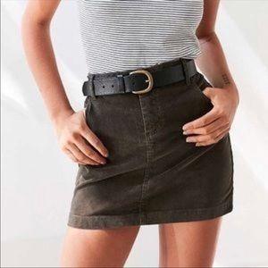 BDG Army Green Corduroy Skirt